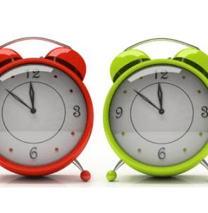 coloured alarm clocks