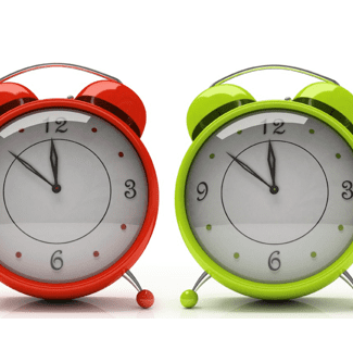 coloured alarm clocks
