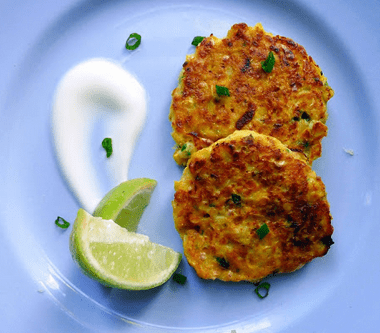 Spring Onion Fritters