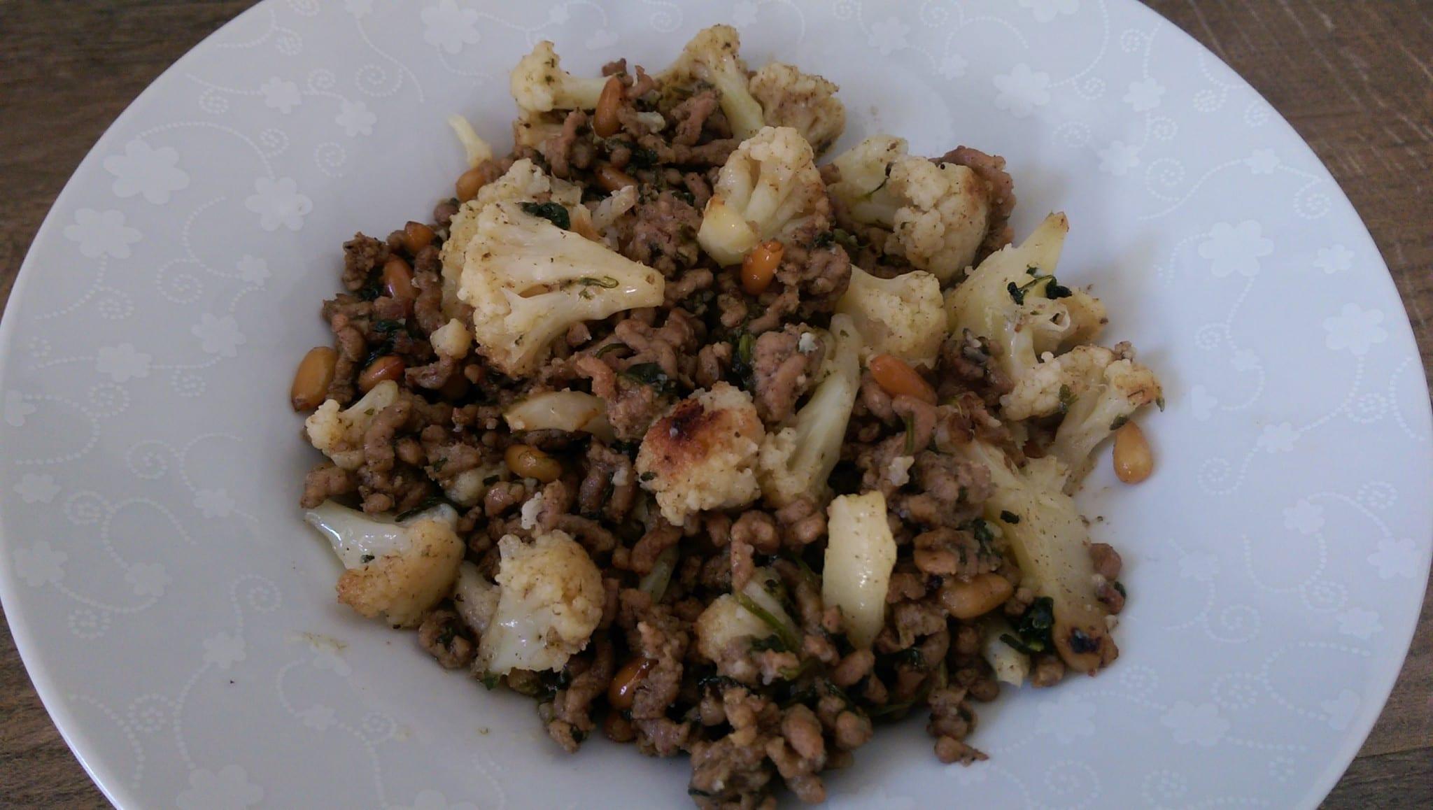 Lebanese inspired lamb with cauliflower