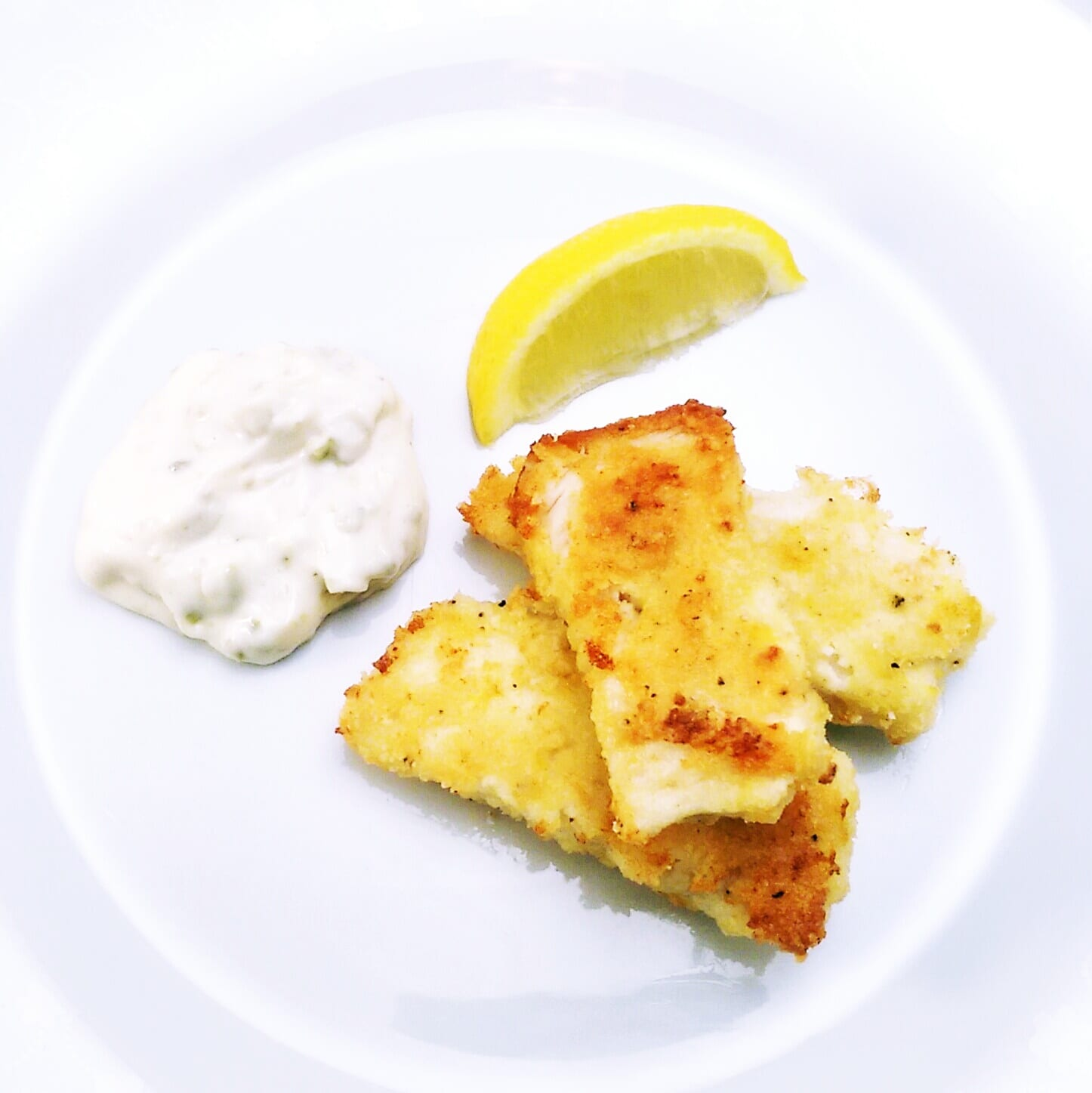 Lemon crumbed fish