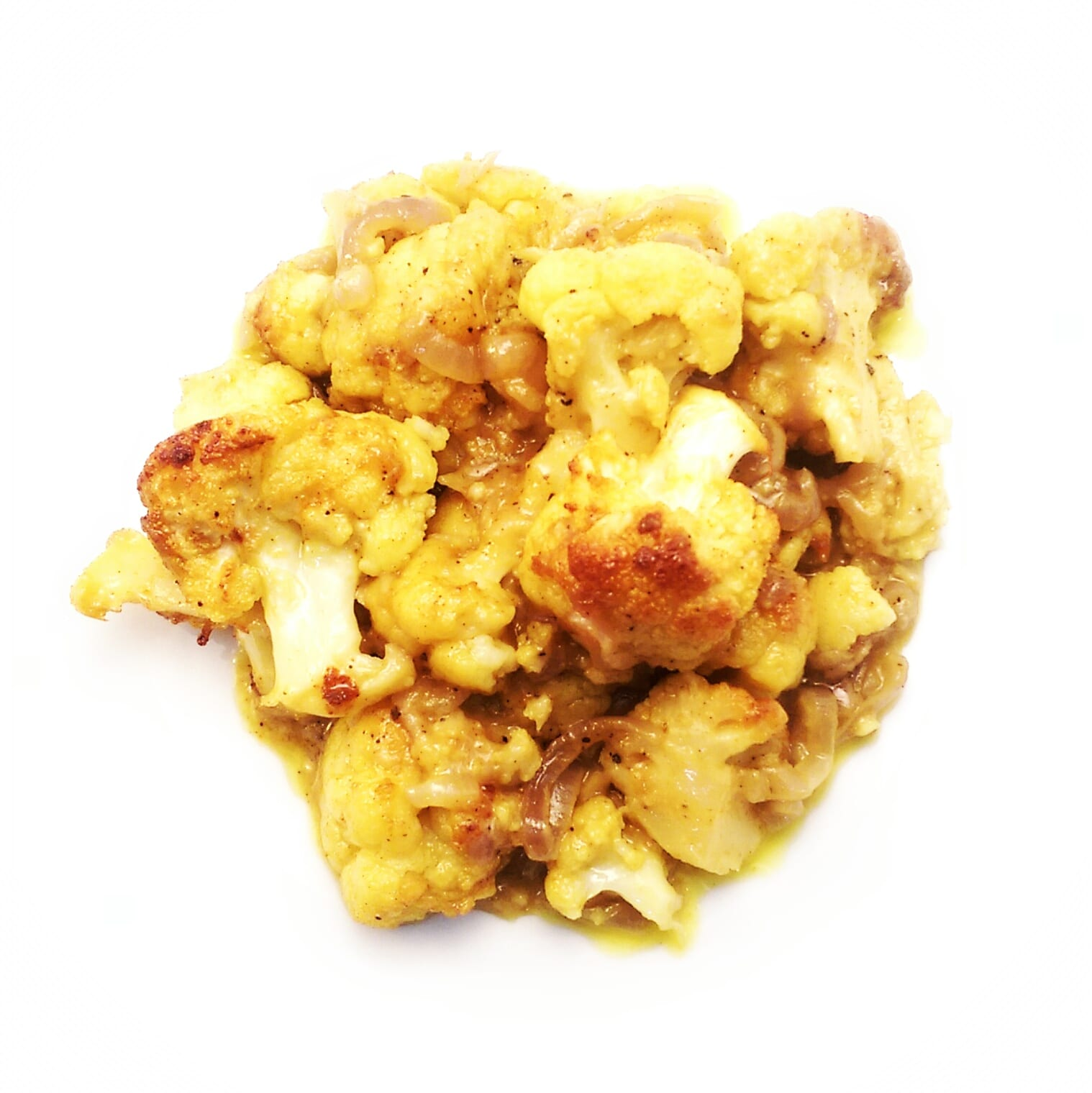 melted cauliflower on a plate
