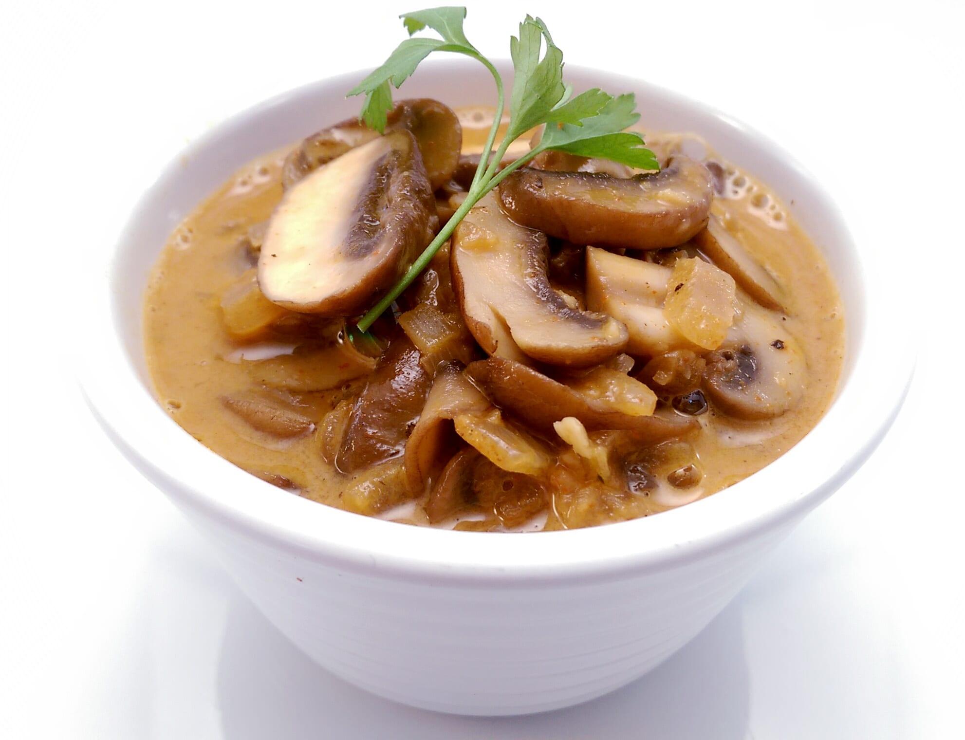 Mushrooms not quite Stroganov
