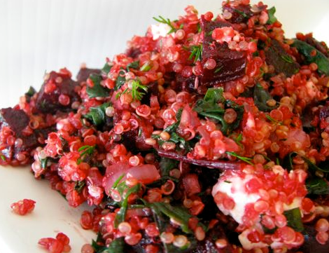 Beetroot, Feta and Quinoa Salad