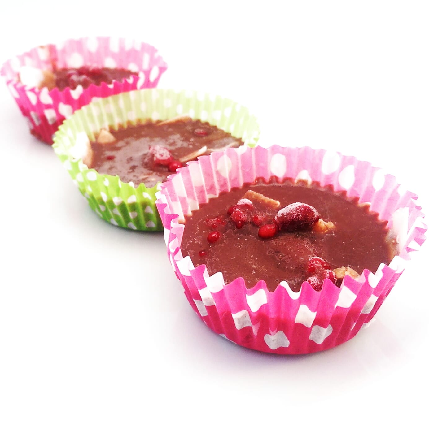 Chocolate Raspberry Coconut Cups