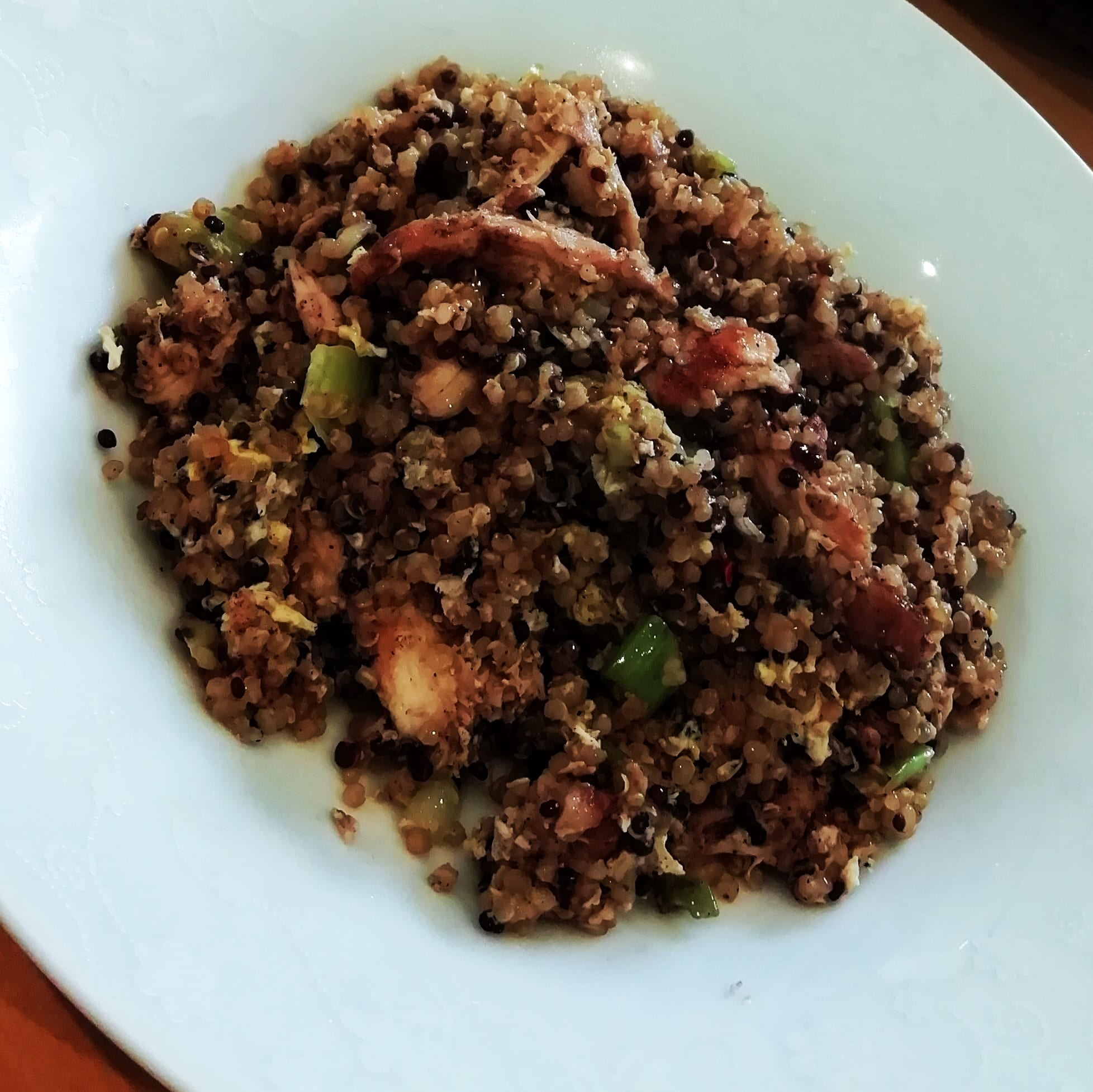 Chinese style chicken fried quinoa