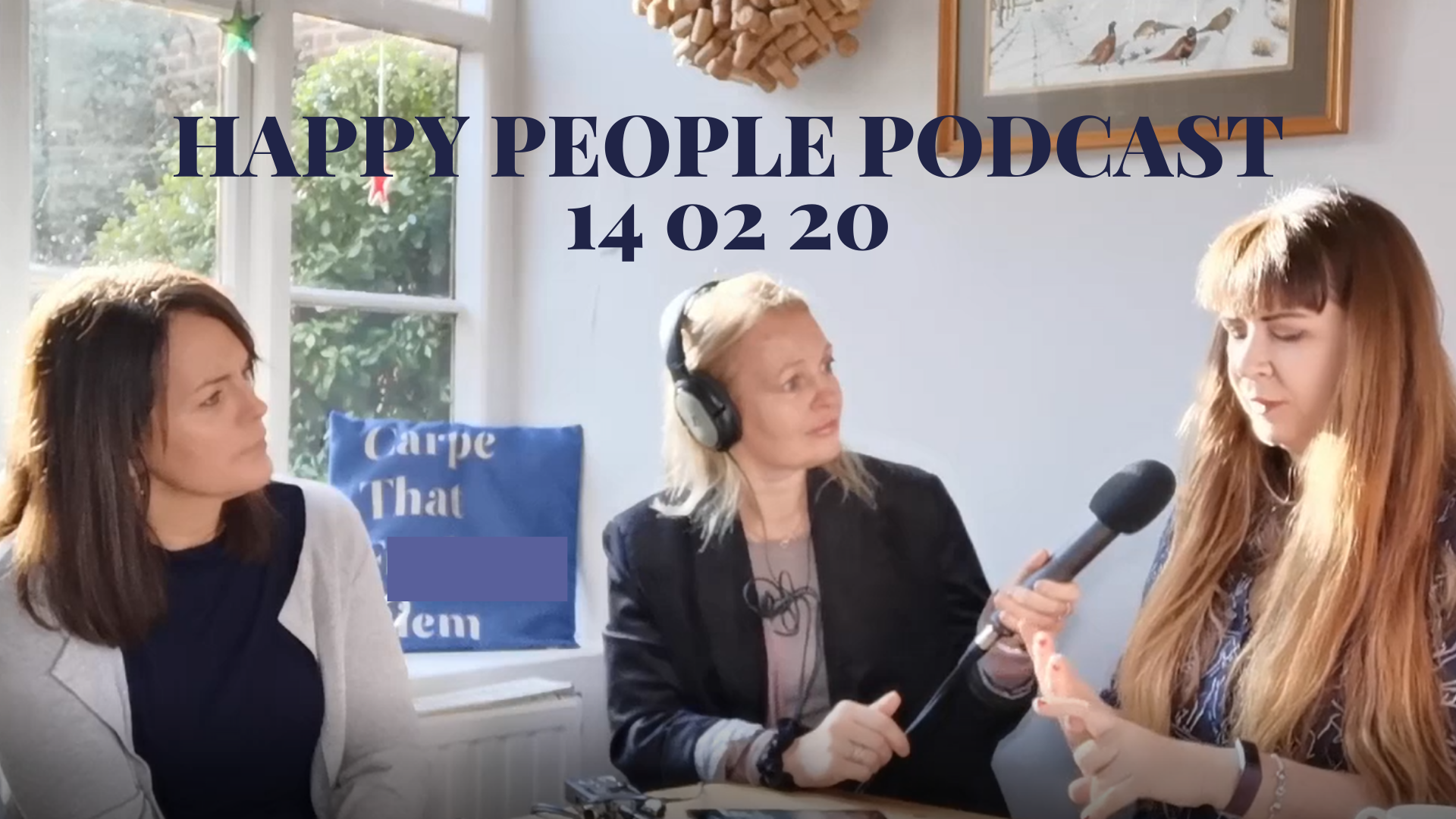 Picture of natasha, nikki and katrina14th February 2020 happy people podcast