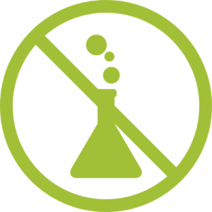 no entry sign logo with chemical icon